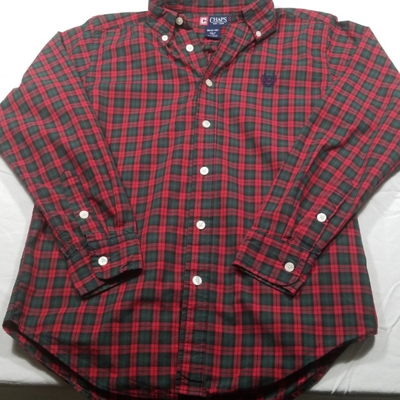 Chaps Other - 👩🏫Red and Green Plaid Button Down